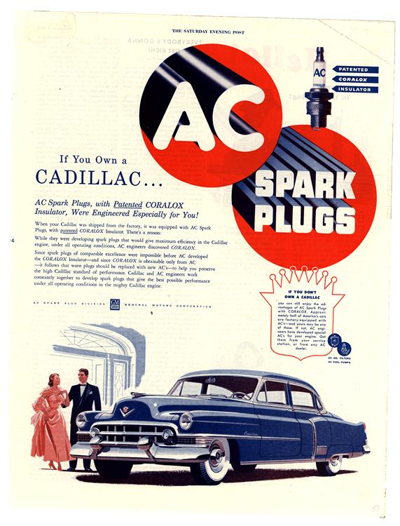 AC Spark Plugs 1951 Cadillac 0001
