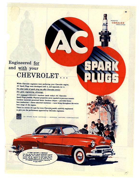AC Spark Plugs 1951 Chevrolet 0003