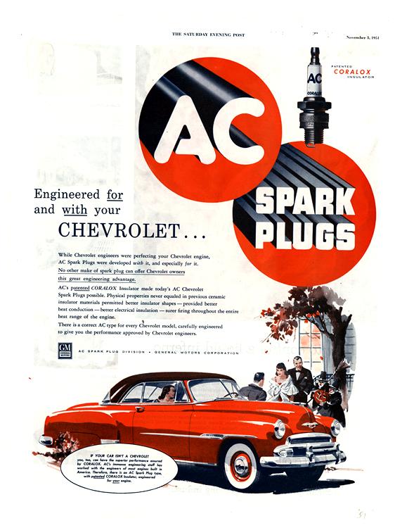 AC Spark Plugs 1952 Chevrolet 0011n3