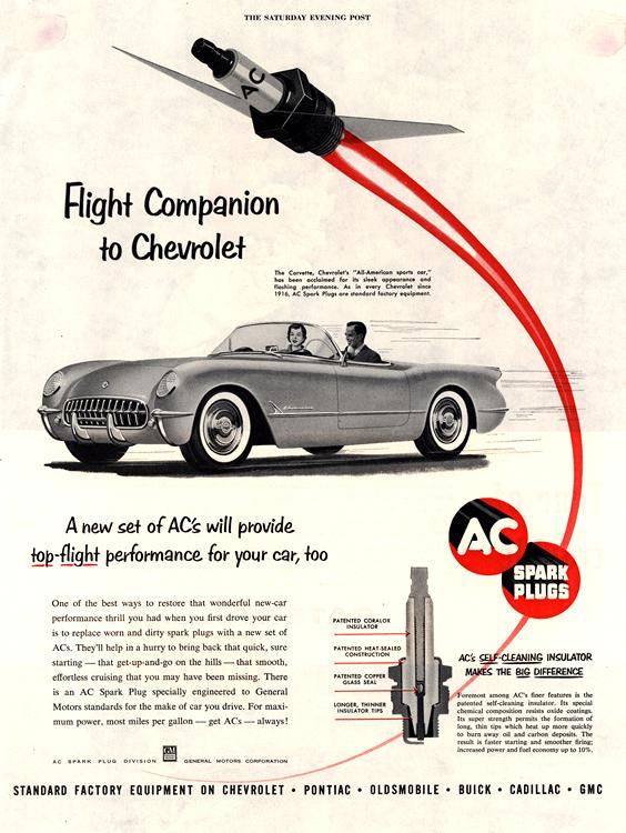 AC Spark Plugs 1954 Chevrolet 0001