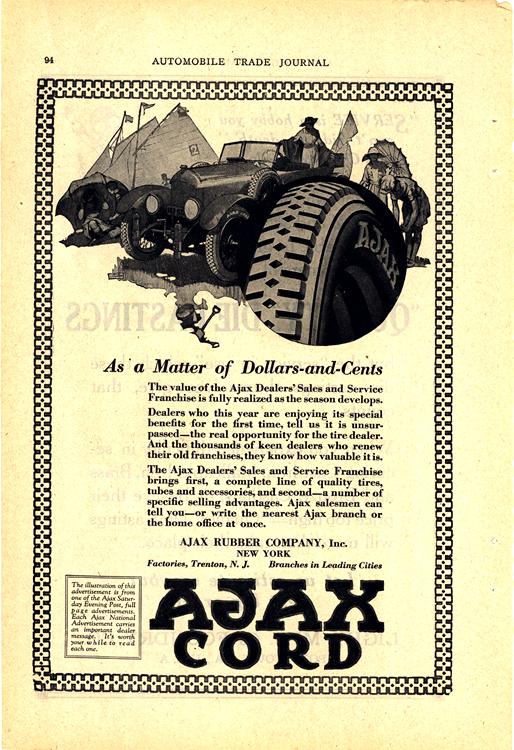 Ajax Tires 1920s Ca 0001