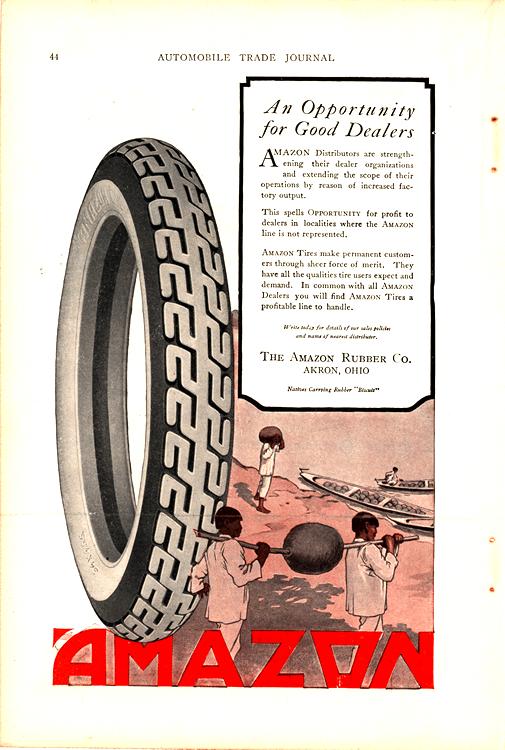 Amazon Tires 1920s Ca 0001