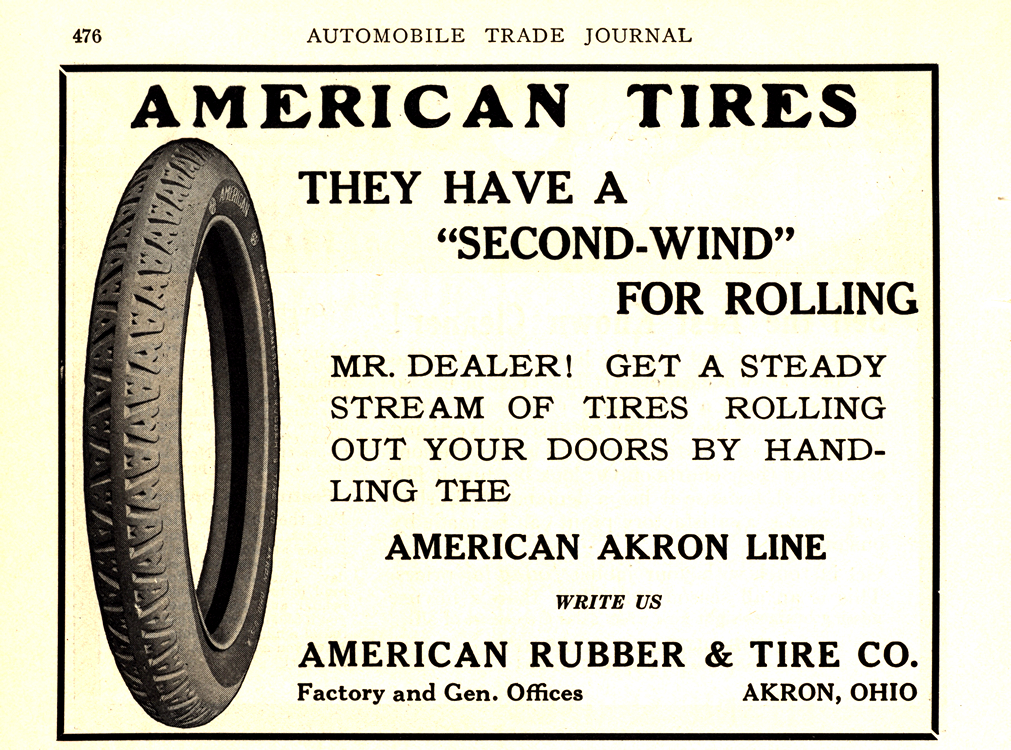 American Akron Tires 1918 Ca 0001