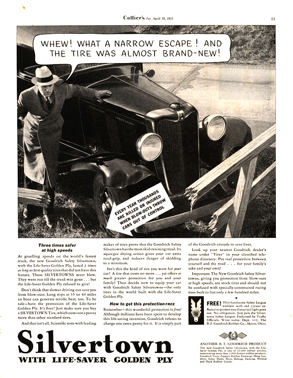B. F. Goodrich Tires 1933 0001