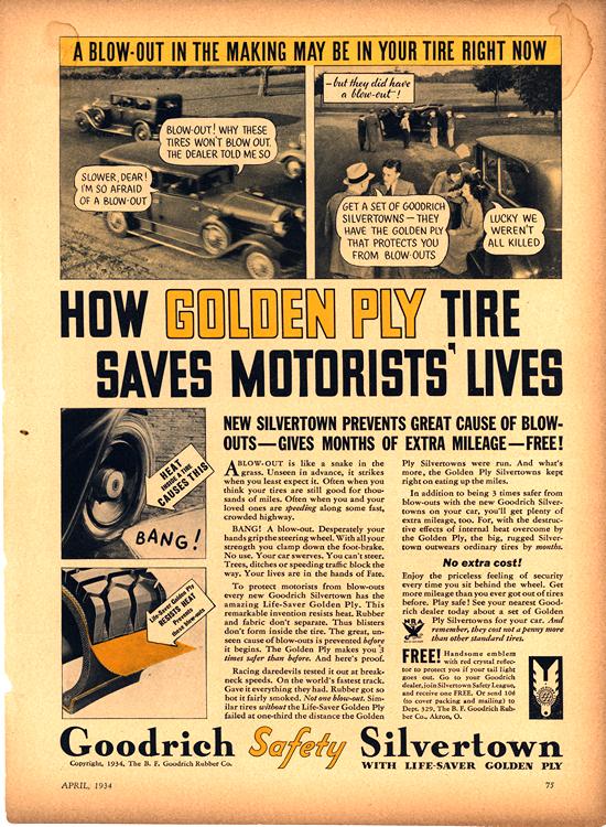 B. F. Goodrich Tires 1934 0001