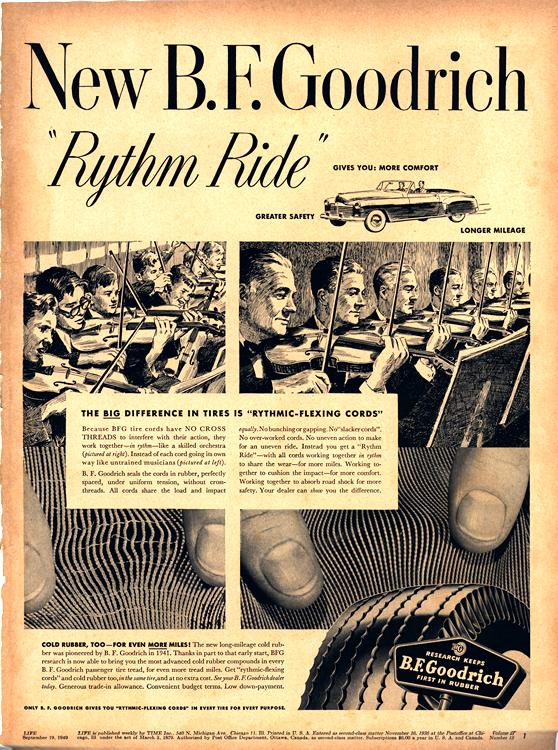 B. F. Goodrich Tires 1949 0001