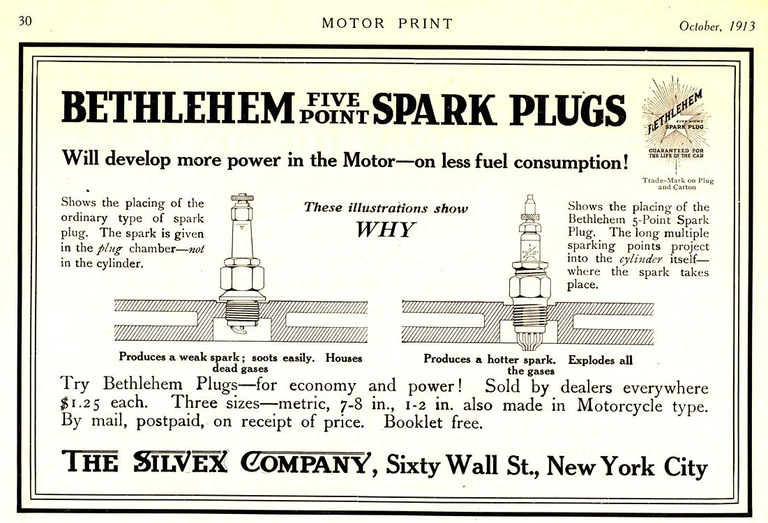 Bethlehem Spark Plugs 1913 0001