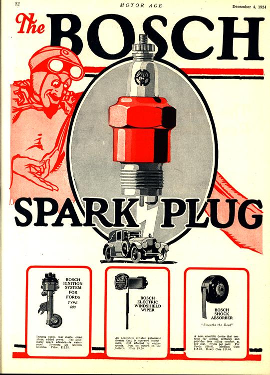 Bosch Sparkplugs 1925 Windshield Wipers 0001