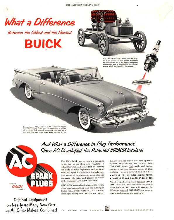 Buick 1954 AC Spark Plugs 0001
