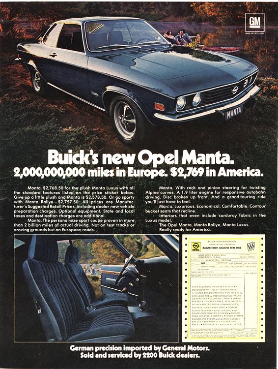 Buick 1973 Opel 0001