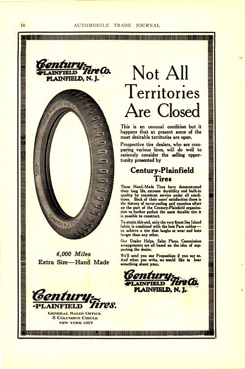 Century Plainfield Tires 1920 Ca 0001
