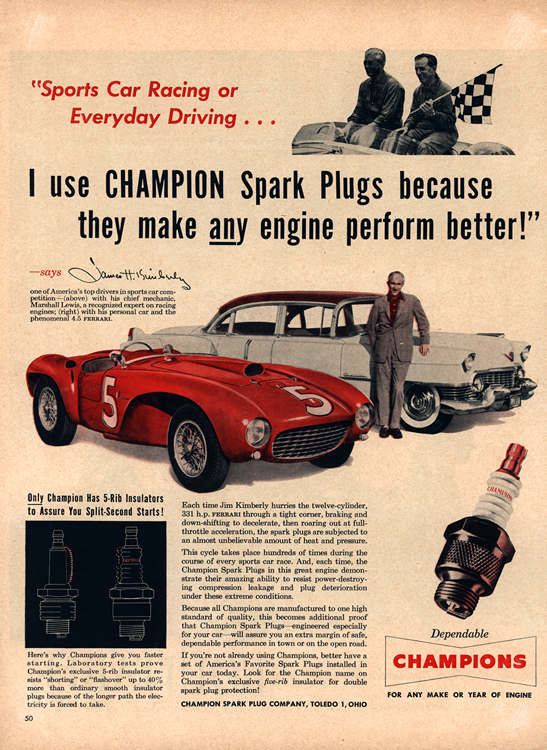 Champion Spark Plugs 1954 0001