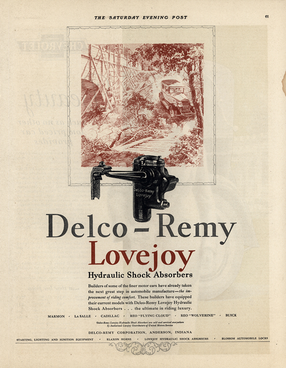 Delco-Remy 1927 Lovejoy Shock Absorbers 0001