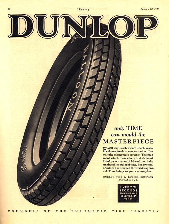 Dunlop Tires 1927 0001