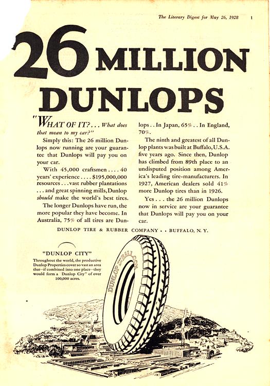 Dunlop Tires 1928 0004