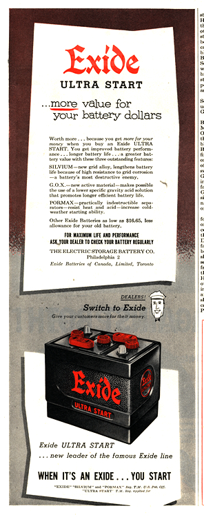 Exide Batteries 1952 0001