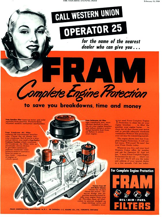 Fram 1950 Oil Filter 0001