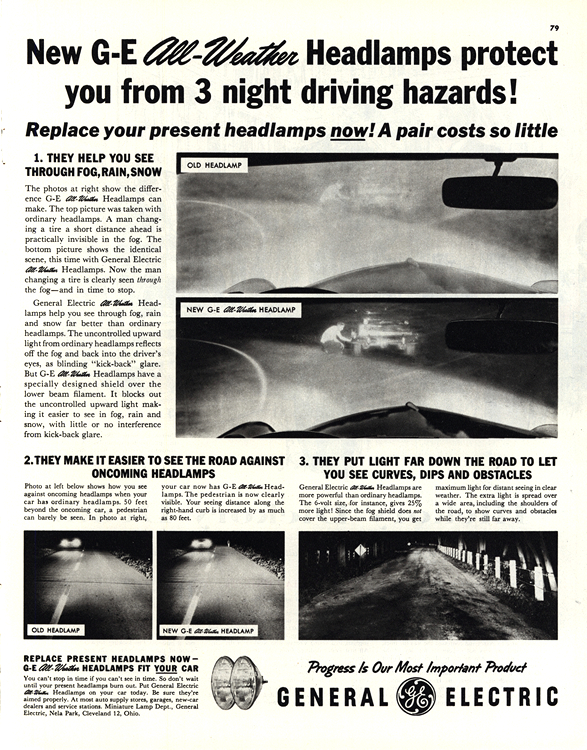 GE Headlights 1956 Headlamps 0001