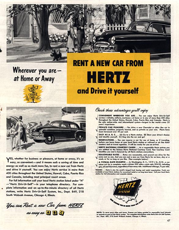 Hertz Rental Car 1949 0001