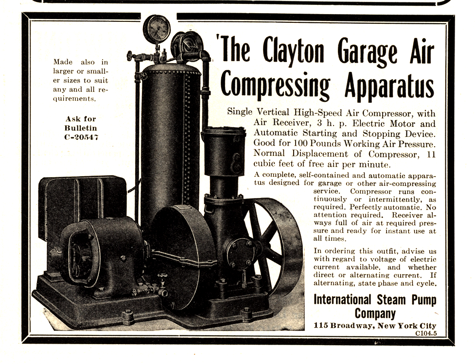 International Steam Pump Co. Garage Equipment 1911 0001