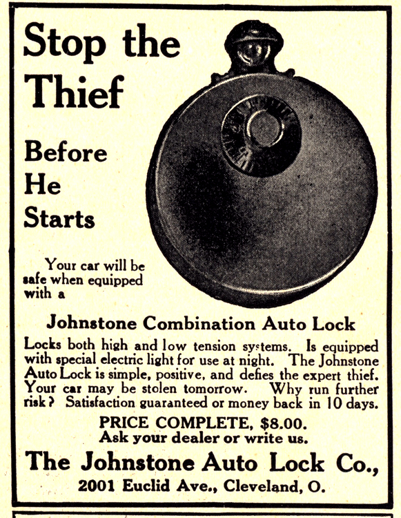 Johnstone Auto Lock Co. Locks 1913 0001