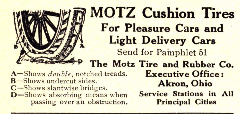Motz Rubber & Tire Co. Tires 1913 0001