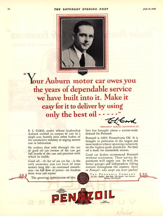 Pennzoil 1928 Auburn 0001