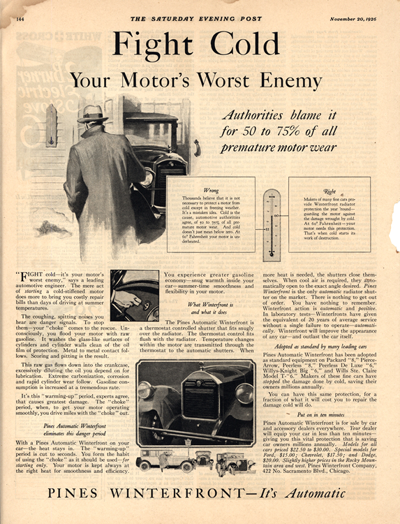 Pines Winterfront 1926 Radiator Cover 0001