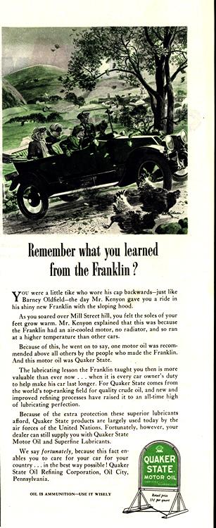 Quaker State Oil 1944 Franklin 0001
