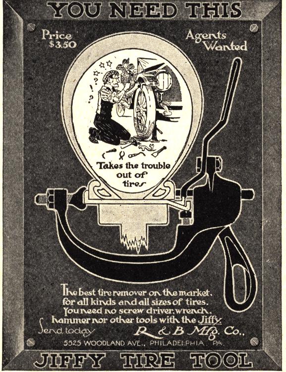R & B Mfg. Co. Tire Tools 1913 0001