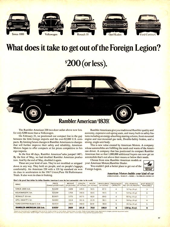 Rambler Volkswagen 1967 0001