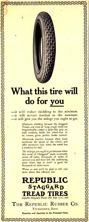 Republic Rubber Co. Tires 1913 0001