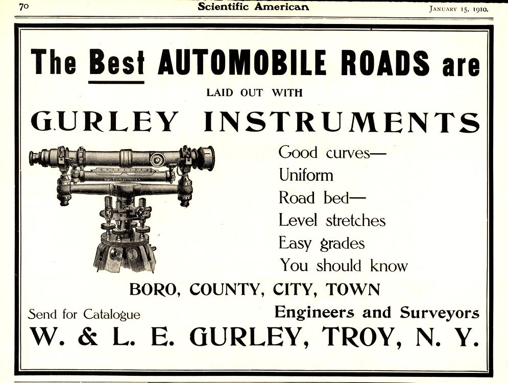 W. & L. E. Gurley Road Construction 1910 0001