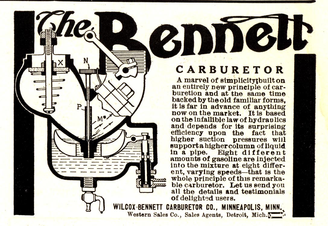 Wilcox-Bennett Carburetor 1910 0001