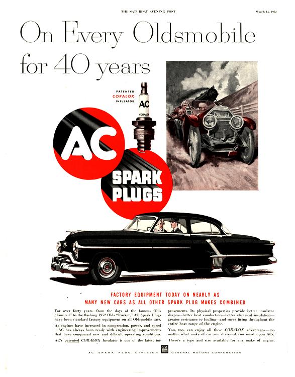 AC SPark Plugs 1952 Oldsmobile 0002