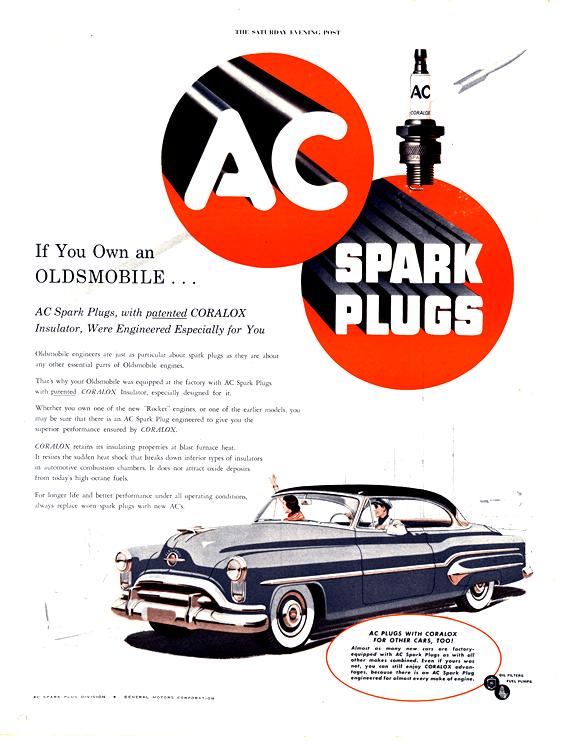 AC Spark Plugs 1951 Oldsmobile 0005