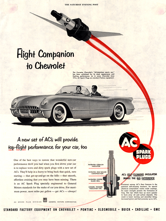 AC Spark Plugs 1954 Chevrolet 0001