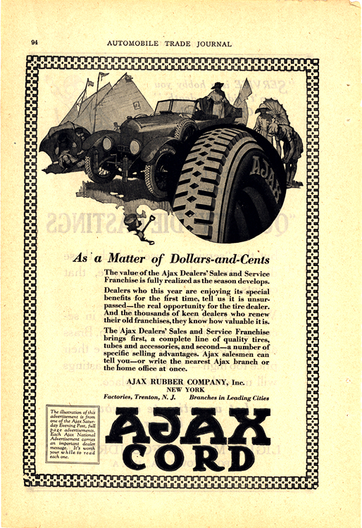Ajax Tires 1920s Ca 0001