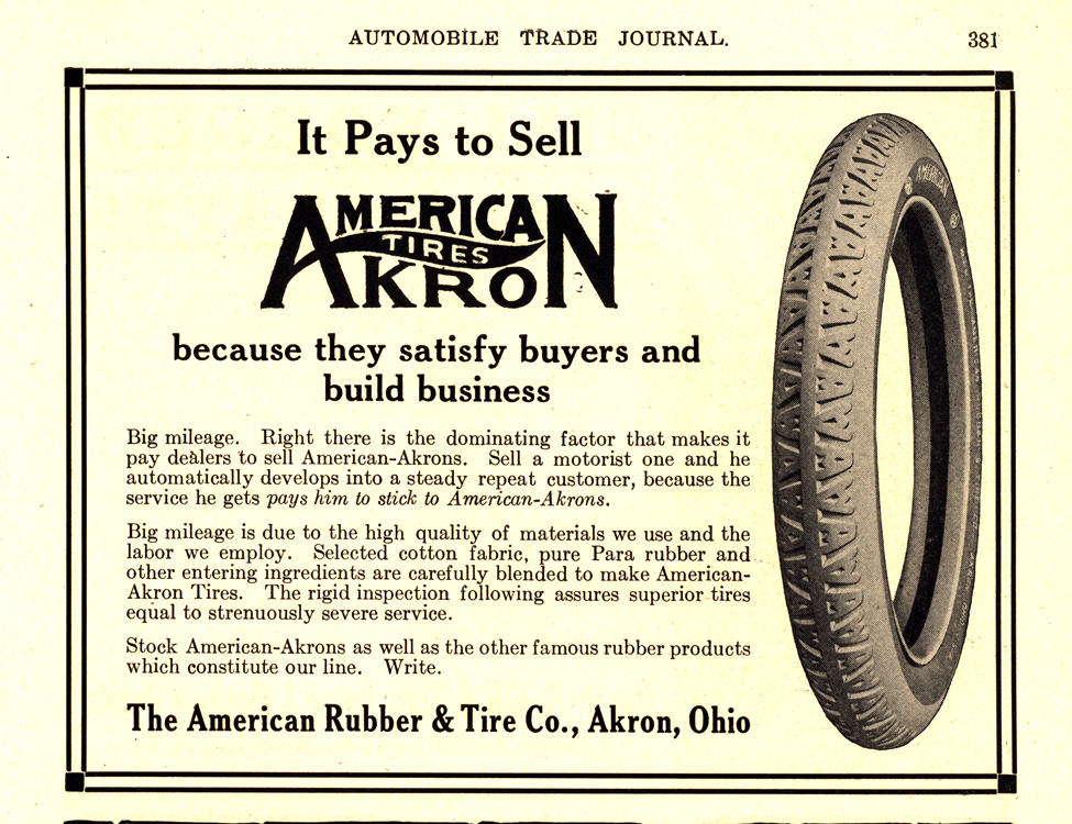 American Akron Tires 1918 0001