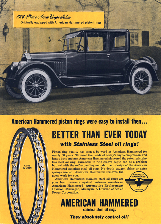American Hammered Piston Rings 1923 Pierce Arrow 0001
