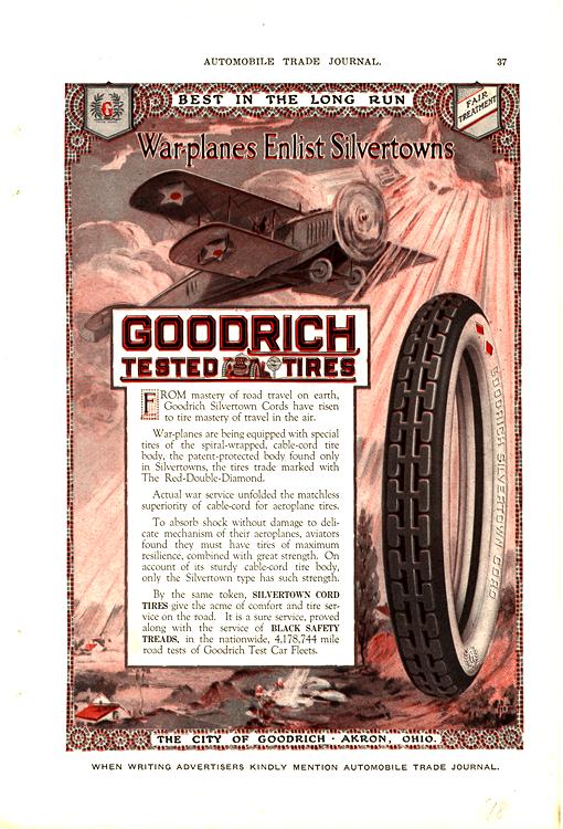 B. F. Goodrich Tires 1918 0001