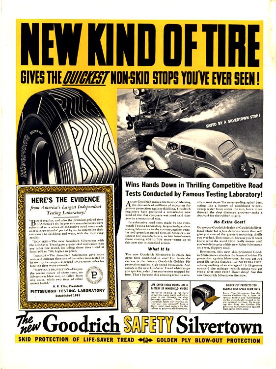 B. F. Goodrich Tires 1938 0001