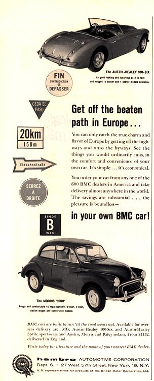 BMC 1959 Morris, Austin-Healey 0001
