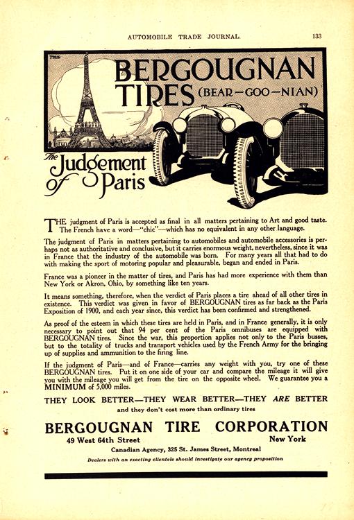 Bergougnan Tires 1918 0001