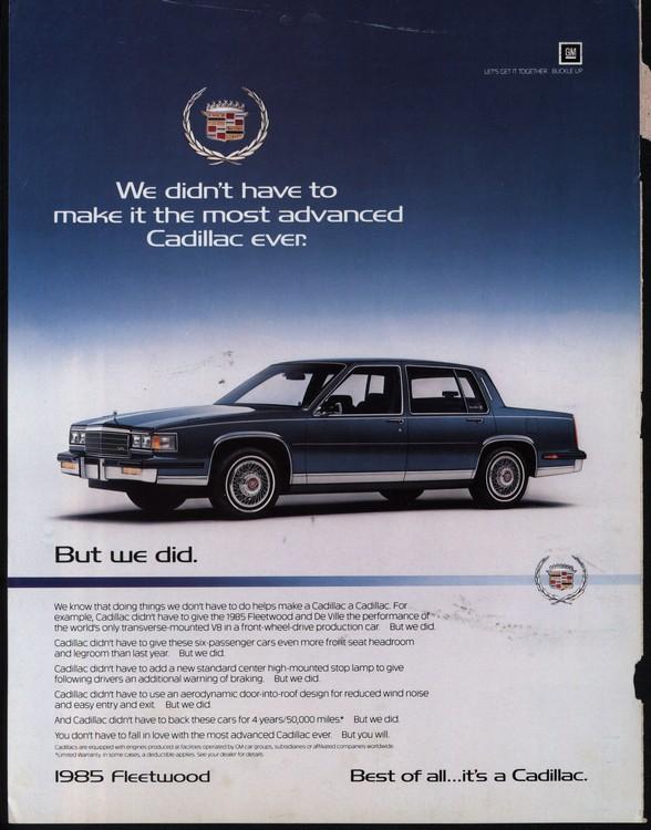 Cadillac 1985 UL2 0001