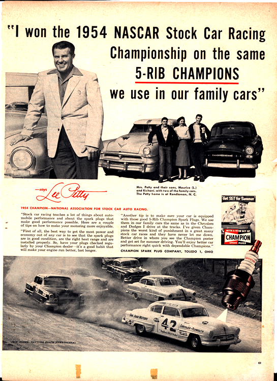 Champion Spark Plugs1954 0001