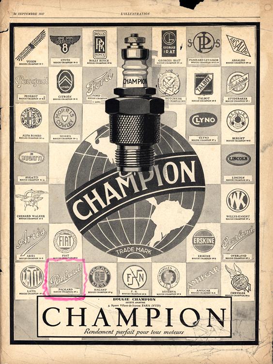 Champion Spark Plugs 1927 0001