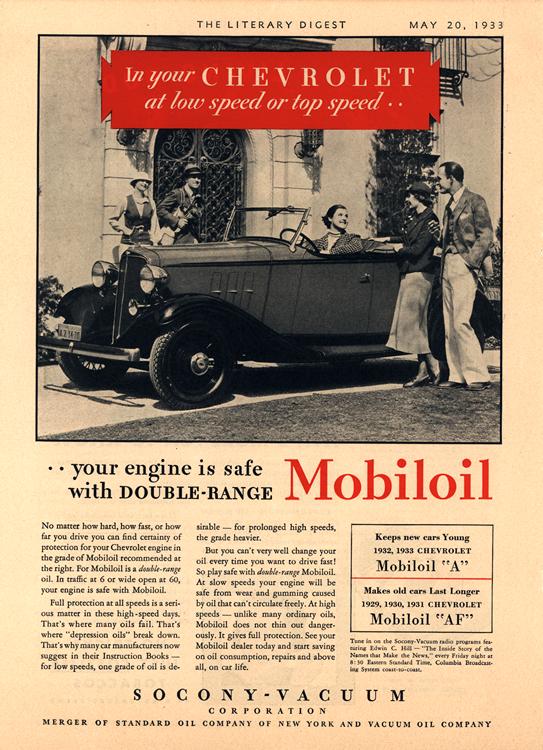 Chevrolet 1933 Mobiloil 0001