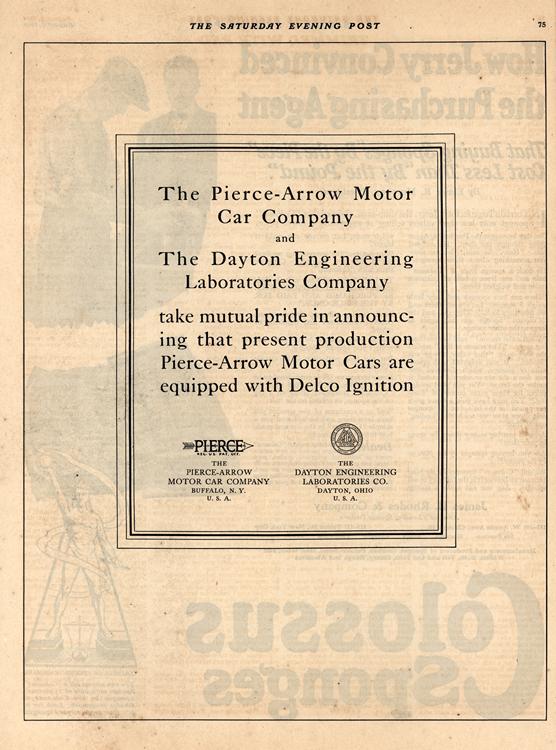 Delco Ignition 1919 Pierce Arrow Dayton 0001