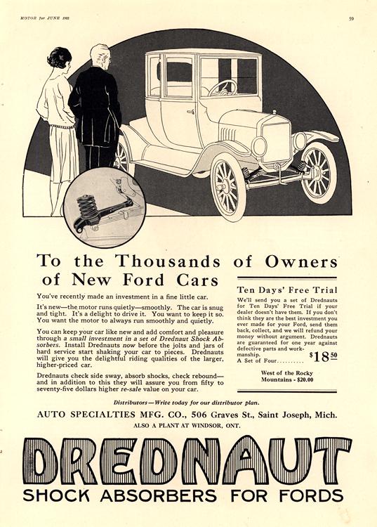 Drednaut 1922 Ford Shock Absorbers 0001